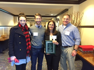 Dr. Owen and her CCT research team, Jilanne Doom, Isaac Riddle, and Scott Schroeder, at the MSCSS Annual Conference.