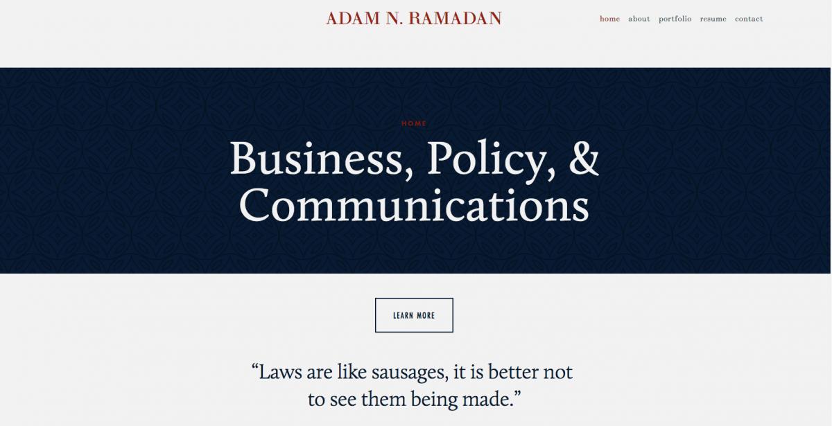 Adam Ramadan e-portfolio
