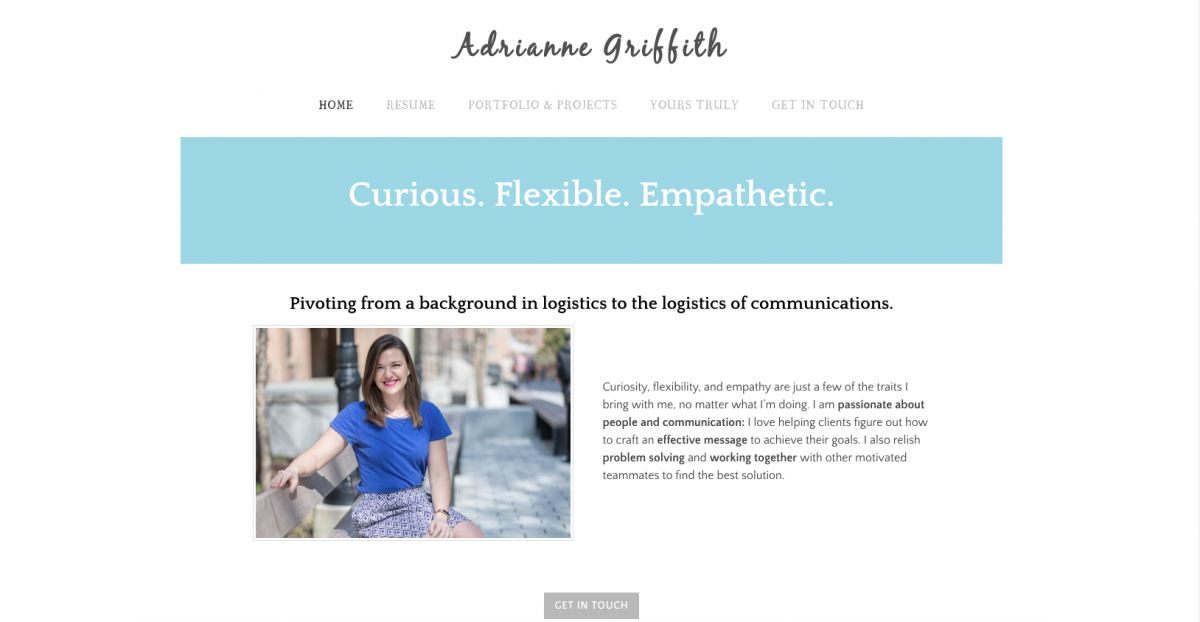 Adrianne Griffith e-portfolio