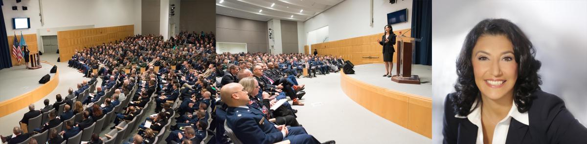 Dr. Amy Zalman speaks at the National Defense University