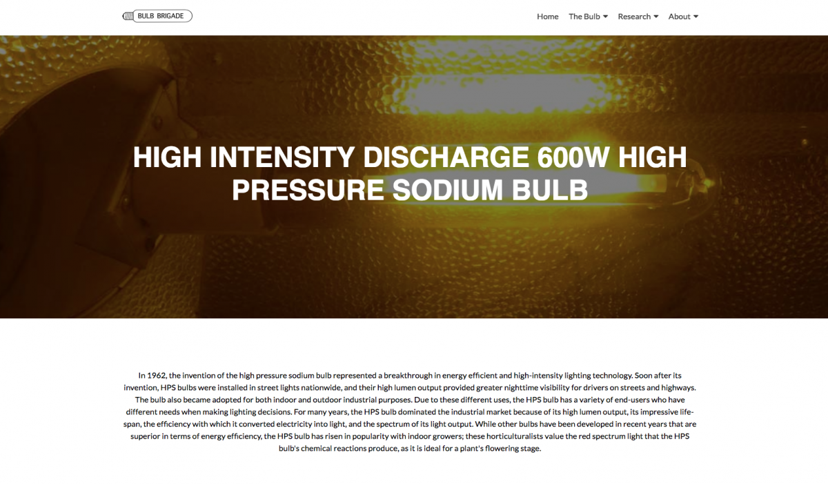 High-Pressure Sodium Bulbs
