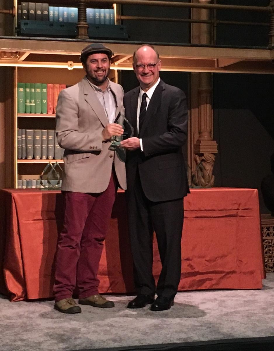 Don Undeen CCT Adjunct Professor and Manager of Maker Hub Wins President's Excellence Award