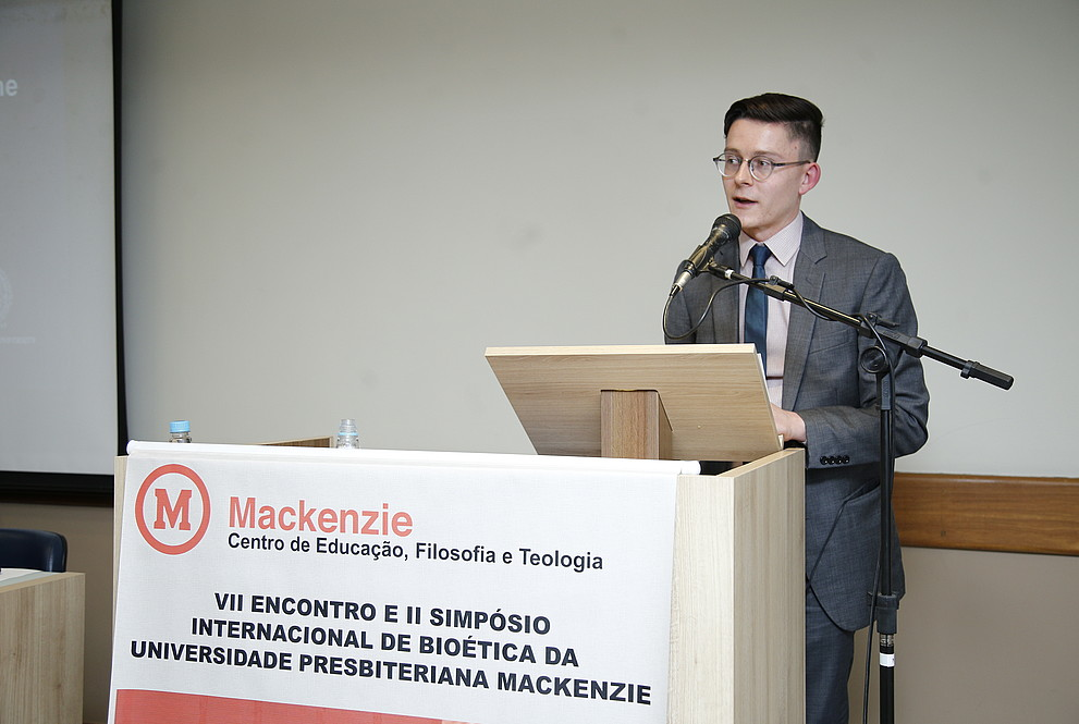 Lukas Chandler at International Bioethics Conference