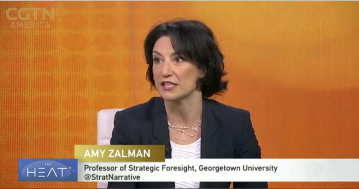 Professor Amy Zalman on CGTN's The Heat