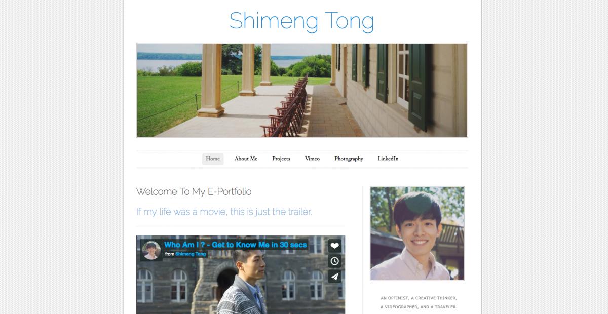 Shiment Tong e-portfolio