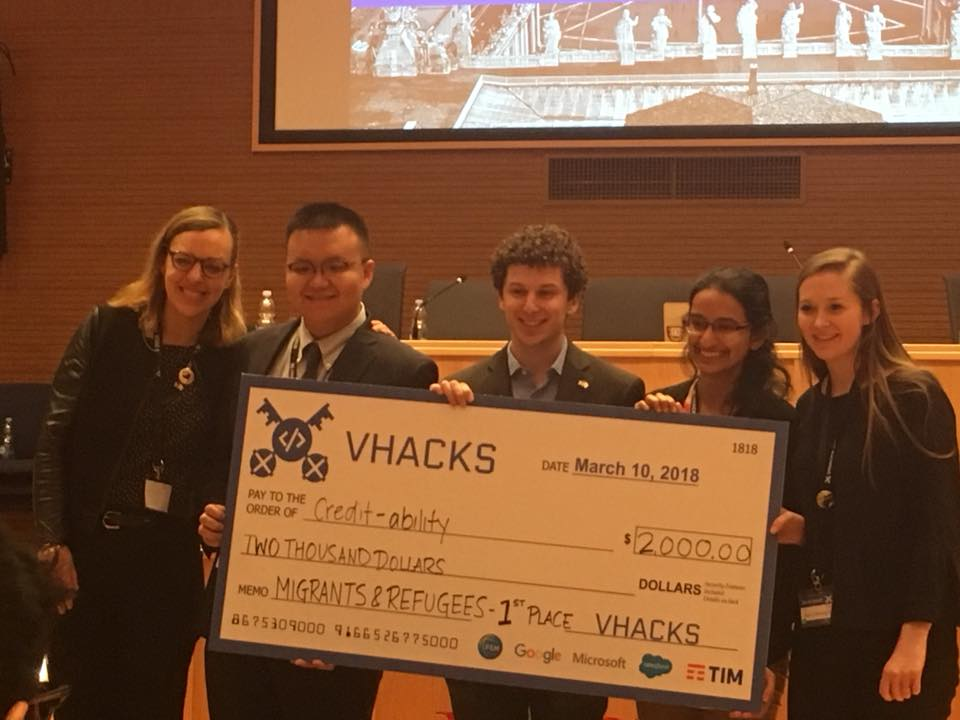 VHacks Winning Team from Georgetown University