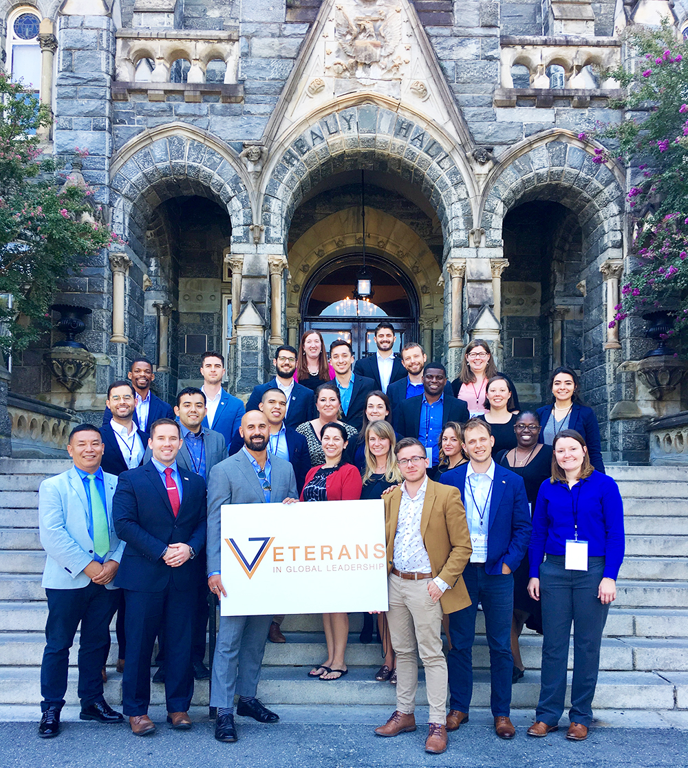VGL 2017-2018 Fellows outside of Healy Hall